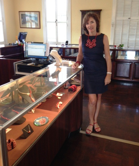 Clara Stryker at the Black Beards Castle Jewelry Trunk Show for Evelyn Brooks Designs