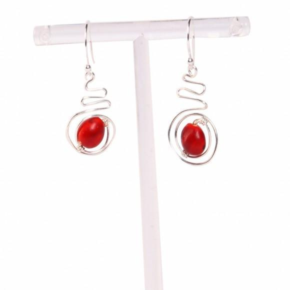 Dangle Drop Earrings for Women with Meaningful Good Luck Seed Beads - EvelynBrooksDesigns