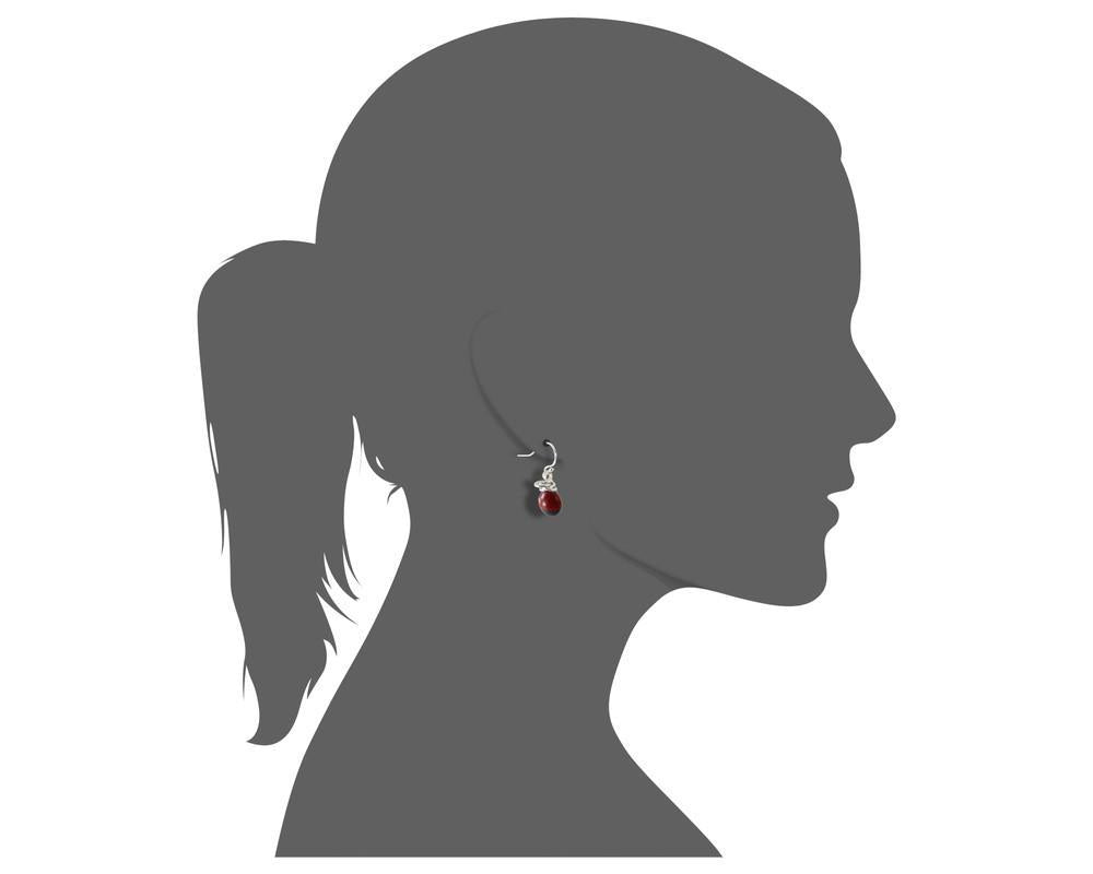 Dangle Long Drop Red & Black Good Luck Earrings - EvelynBrooksDesigns