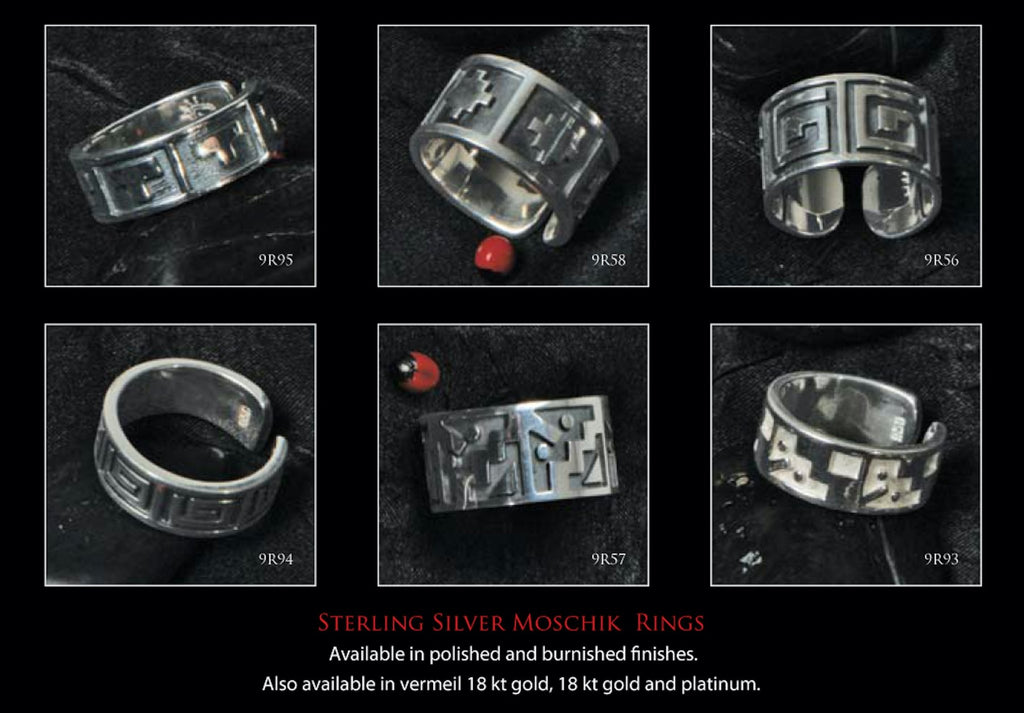 "Inka Cross ""Chakana"" Peruvian Inspired Love Exchange Unisex Sterling Silver Rings - EvelynBrooksDesigns"