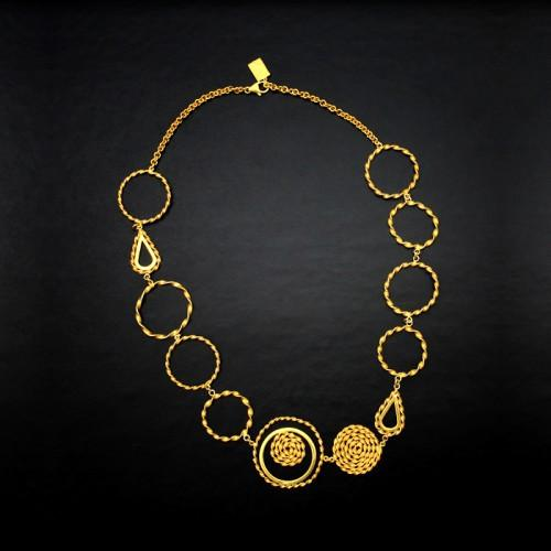 "Peruvian Inspired ""Nazca"" Infinity Gold Necklace for Women - EvelynBrooksDesigns"