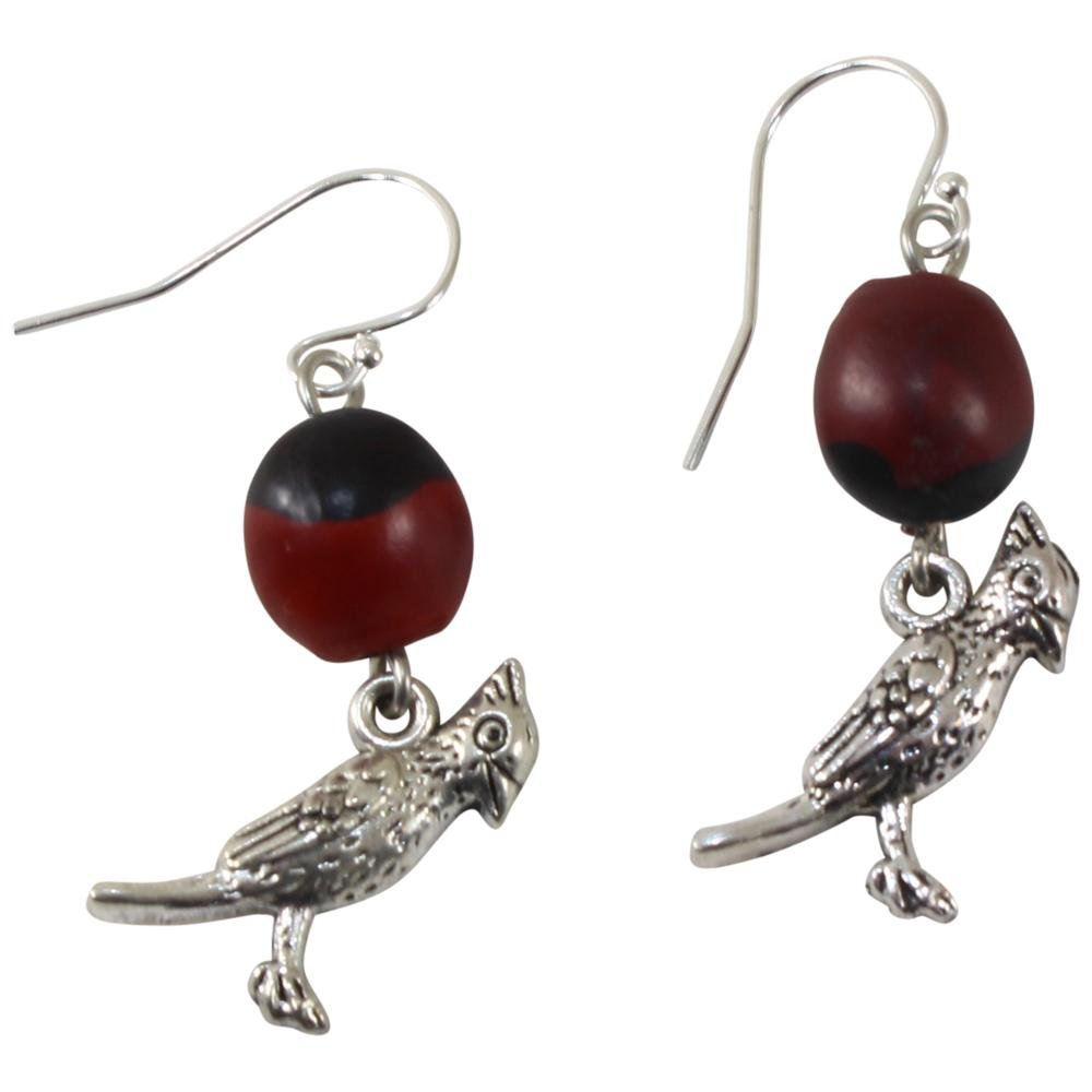 Remember ME Hummingbird Dangle Earrings For Women - Huayruro Red Seed - Handmade Jewelry - EvelynBrooksDesigns