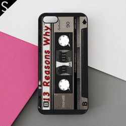 13 Reasons Why Cassette - iPhone 7 Case, iPhone 6/6S Plus, iPhone 5 5S SE, Google Pixel XL Pro, HTC M10, Samsung Galaxy S8 S7 S6 Edge Cases