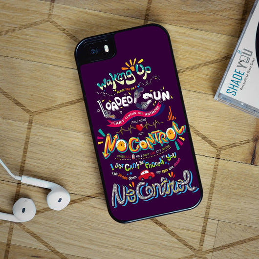 One Direction No Control Lyrics- 1D iPhone 4/4S, iPhone 5/5S/5C, iPhone 6 Case, Samsung Galaxy S4 S5 S6 Cases