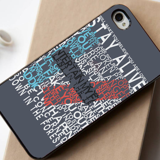 Twenty One Pilots 21 Pilots Lyrics - iPhone 4/4S, iPhone 5/5S, iPhone 5C Case, Samsung Galaxy S4/S5 Case
