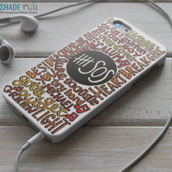 5SOS Lyrics Five Seconds of Summer - iPhone 4/4S, iPhone 5/5S/5C, iPhone 6 Case, Samsung Galaxy S4/S5 Cases