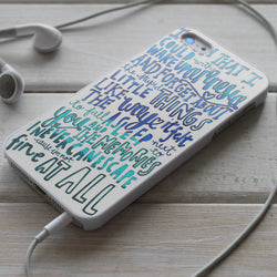 5SOS Amnesia Lyrics - iPhone 4/4S, iPhone 5/5S/5C, iPhone 6 Case, Samsung Galaxy S4/S5 Cases