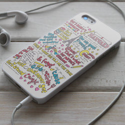 5SOS Good Girls are Bad Girls Lyric - iPhone 4/4S, iPhone 5/5S/5C, iPhone 6 Case, Samsung Galaxy S4/S5 Cases