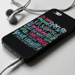 5SOS Social Casualty Lyrics - iPhone 4/4S, iPhone 5/5S/5C, iPhone 6 Case, Samsung Galaxy S4/S5 Cases