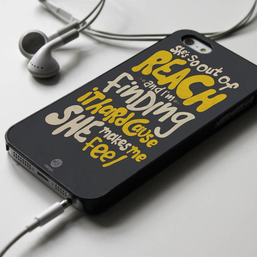 5SOS Try Hard Lyric - Five Seconds of Summer iPhone 4/4S, iPhone 5/5S/5C, iPhone 6 Case, Samsung Galaxy S4/S5 Cases