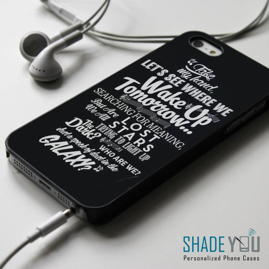 Adam Levine Lost Stars Lyrics - iPhone 4/4S, iPhone 5/5S/5C, iPhone 6 Case, Samsung Galaxy S4/S5 Cases
