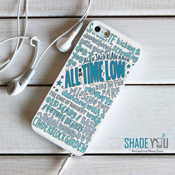 All Time Low Future Hearts Lyrics - iPhone 4/4S, iPhone 5/5S/5C, iPhone 6 Case, plus Samsung Galaxy S4/S5/S6 Edge Cases