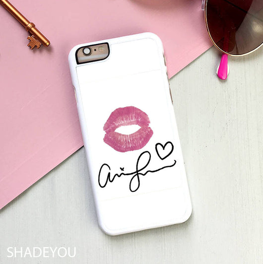 Ariana Grande Signature Lips - iPhone 7 Case, iPhone 6/6S Plus, iPhone 5 5S SE, Nexus, HTC M9, LG G5, Samsung Galaxy S5 S6 S7 Edge Cases