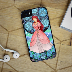 Ariel Stained Glass - iPhone 6 Case, iPhone 5C Case, iPhone 5S Case, plus Samsung Galaxy S4 S5 S6 Edge Cases