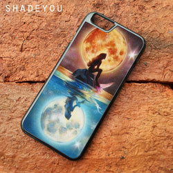 Ariel Under the Moonlight - iPhone 6/6S Case, iPhone 6/6S Plus Case, iPhone 5/5S SE Case plus Samsung Galaxy S5 S6 S7 Edge Cases