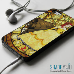 Beauty and The Beast Stained Glass Belle - iPhone 4/4S, iPhone 5/5S/5C, iPhone 6 Case, Samsung Galaxy S4/S5 Cases