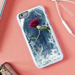 Beauty and the Beast Enchanted Rose iphone cases