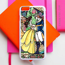 Beauty and the Beast Stained Glass Art - iPhone 7 Case, iPhone 6/6S Plus, iPhone 5 5S SE, Nexus, HTC M9, LG G5, Samsung Galaxy S5 S6 S7 Edge Cases