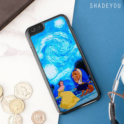 Beauty and the Beast Starry Night iphone cases