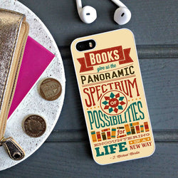 Book Quotes - iPhone 6 Case, iPhone 5S Case, iPhone 5C Case plus Samsung Galaxy S4 S5 S6 Edge Cases