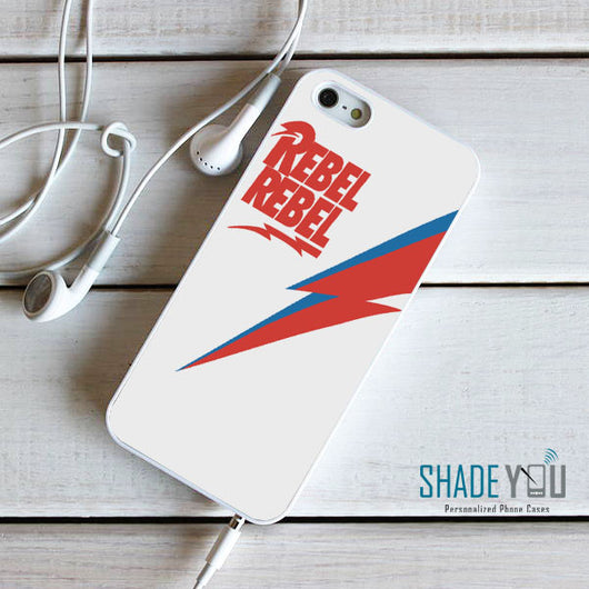 Bowie Rebel Rebel - iPhone 4/4S, iPhone 5/5S/5C, iPhone 6 Case, plus Samsung Galaxy S4/S5/S6 Edge Cases
