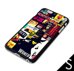 Broadway Musical Collage iphone cases