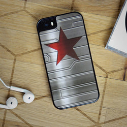 Bucky Barnes Star Symbol - Captain America iPhone 6 Case, iPhone 5S Case, iPhone 5C Case plus Samsung Galaxy S4 S5 S6 Edge Cases