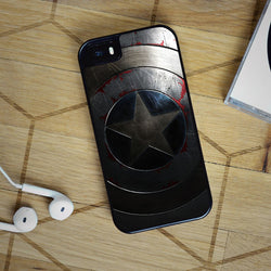 Captain America Civil War Shield - iPhone 6 Case, iPhone 5S Case, iPhone 5C Case plus Samsung Galaxy S4 S5 S6 Edge Cases