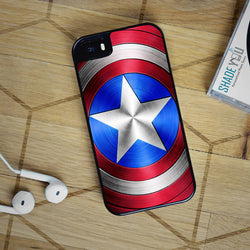 Captain America Shield - iPhone 4/4S, iPhone 5/5S/5C, iPhone 6 Case, Samsung Galaxy S4/S5/S6 Edge Cases