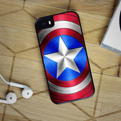 Captain America Shield - iPhone 6S, iPhone 5 5S 5C, iPhone 6 Case, plus Samsung Galaxy S4 S5 S6 Edge Cases