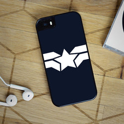 Captain America Star Symbol - iPhone 6 Case, iPhone 5S Case, iPhone 5C Case plus Samsung Galaxy S4 S5 S6 Edge Cases