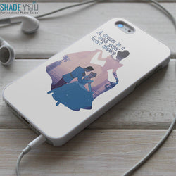 Cinderella and Prince Charming Quotes - iPhone 4/4S, iPhone 5/5S/5C, iPhone 6 Case, Samsung Galaxy S4/S5 Cases
