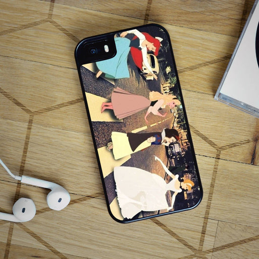 Disney Princess Abbey Road - iPhone 4, iPhone 5 5S 5C, iPhone 6 Case, plus Samsung Galaxy S4 S5 S6 Edge Cases