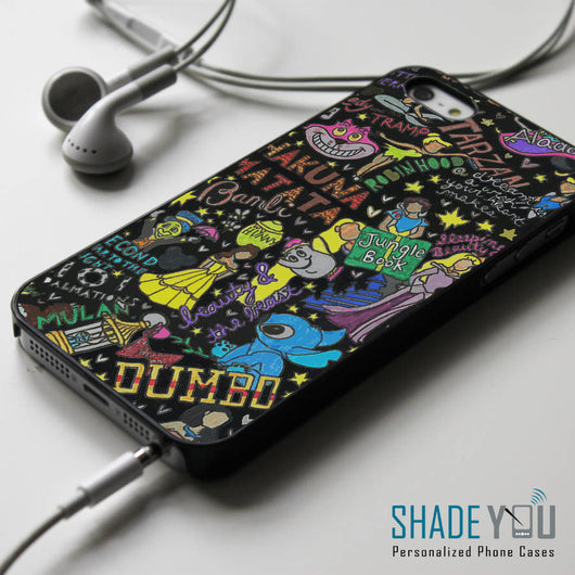 Disney Princess Collage Black - iPhone 4/4S, iPhone 5/5S, iPhone 5C Case, Samsung Galaxy S4/S5 Cases