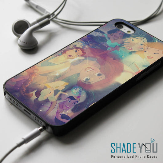 Disney Princess Space Nebula Collage - iPhone 4/4S, iPhone 5/5S/5C, iPhone 6 Case, Samsung Galaxy S4/S5 Cases