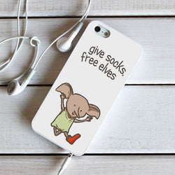 Dobby Give Socks Free Elves - iPhone 4, iPhone 5 5S 5C, iPhone 6 Case, plus Samsung Galaxy S4 S5 S6 Edge Cases