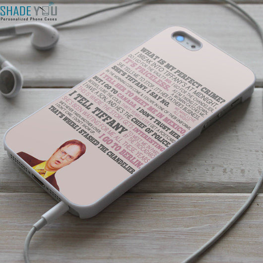 Dwight Danger Schrute Quotes - The Office iPhone 4/4S, iPhone 5/5S/5C, iPhone 6 Case, Samsung Galaxy S4/S5 Cases
