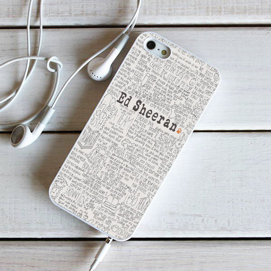Ed Sheeran Lyrics - iPhone 4, iPhone 5 5S 5C, iPhone 6 Case, plus Samsung Galaxy S4 S5 S6 Edge Cases