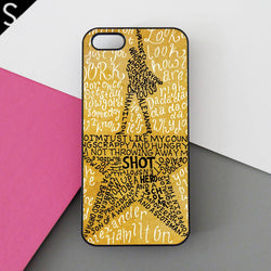 Hamilton Gold Star Lyrics iphone cases