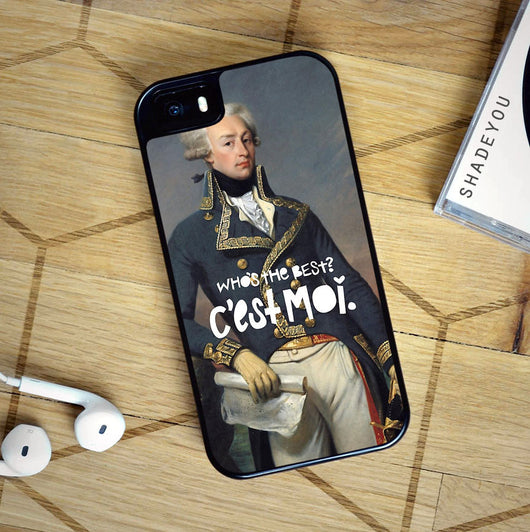 Hamilton Lafayette Cest Moi - iPhone 7 Case, iPhone 6/6S Plus, iPhone 5 5S SE, Nexus, HTC M9, LG G5, Samsung Galaxy S5 S6 S7 Edge Cases