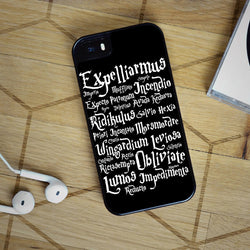 Harry Potter Spells 4 Quotes - iPhone 6 Case, iPhone 5S Case, iPhone 5C Case plus Samsung Galaxy S4 S5 S6 Edge Cases