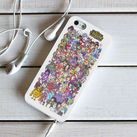 League of Legends Collage - iPhone 4, iPhone 5 5S 5C, iPhone 6 Case, plus Samsung Galaxy S4 S5 S6 Edge Cases