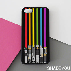 Lightsaber Rainbow - iPhone 7 Case, 6/6S Plus, 5 5S SE, Pixel, HTC, LG, Samsung Galaxy S8 S7 S6 Edge + Cases