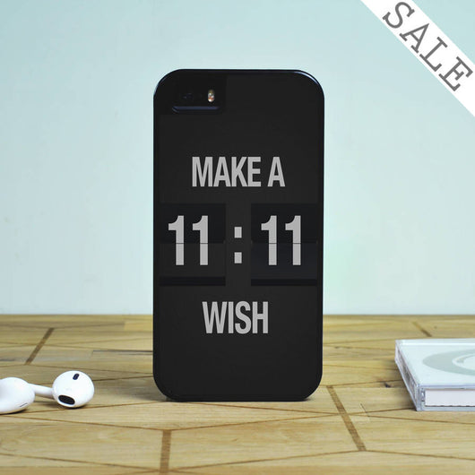 Make a Wish 11:11 - iPhone 5S Case, iPhone 5C Case, iPhone 6 Case, plus Samsung Galaxy S4 S5 S6 Edge Cases
