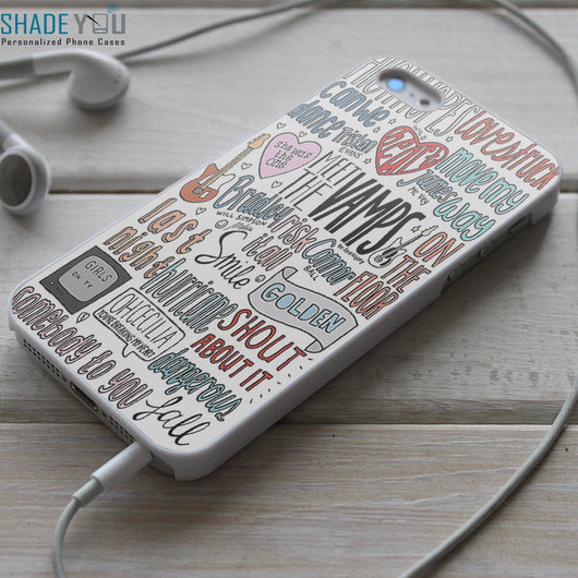 Meet The Vamps Lyrics - iPhone 4/4S, iPhone 5/5S/5C, iPhone 6 Case, Samsung Galaxy S4/S5 Cases