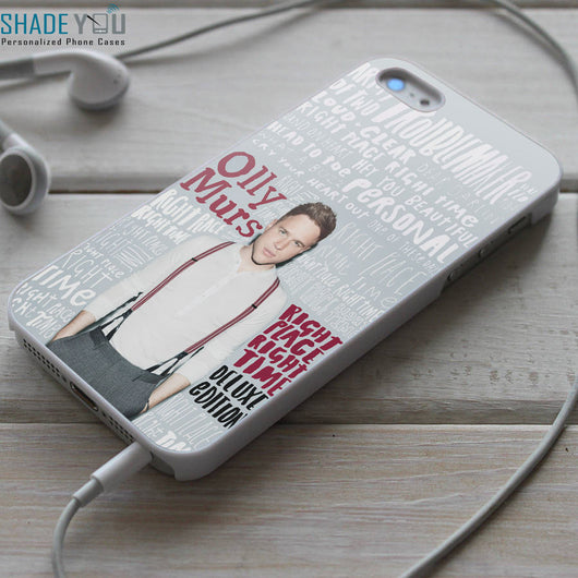 Olly Murs Right Place Right Time Lyrics iPhone 4/4S, iPhone 5/5S/5C, iPhone 6 Case, Samsung Galaxy S4/S5 Cases