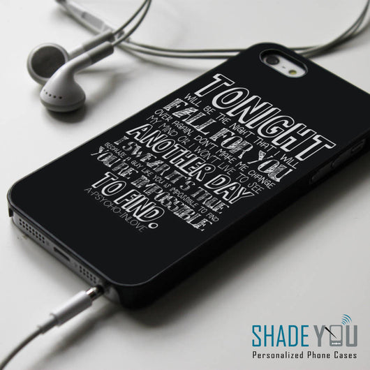 Patent Pending Psycho in Love Lyrics - iPhone 4/4S, iPhone 5/5S/5C, iPhone 6 Case, Samsung Galaxy S4/S5 Cases