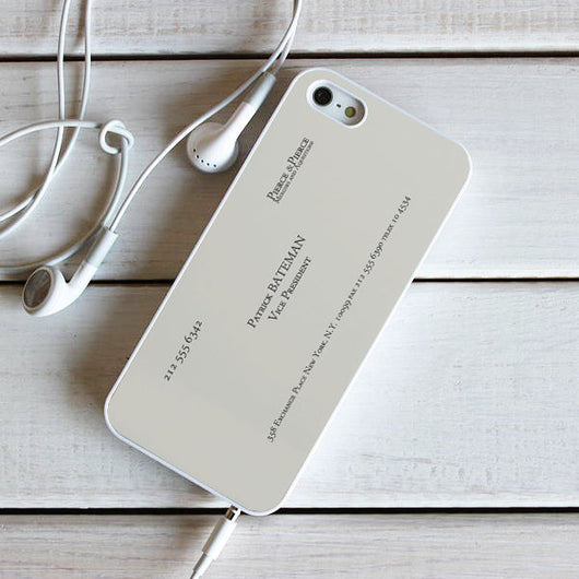 Patrick Bateman Business Card - iPhone 6 Case, iPhone 5S Case, iPhone 5C Case, plus Samsung Galaxy S4 S5 S6 Edge Cases