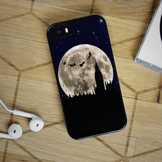 Peter Pan Flying to the Moon - iPhone 4, iPhone 5 5S 5C, iPhone 6 Case, plus Samsung Galaxy S4 S5 S6 Edge Cases
