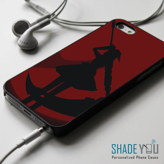 RWBY Ruby Rose Silhouette - iPhone 4/4S, iPhone 5/5S/5C, iPhone 6 Case, Samsung Galaxy S4/S5 Cases
